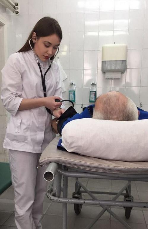 Поступление больного в стационар с гипертоническим кризом