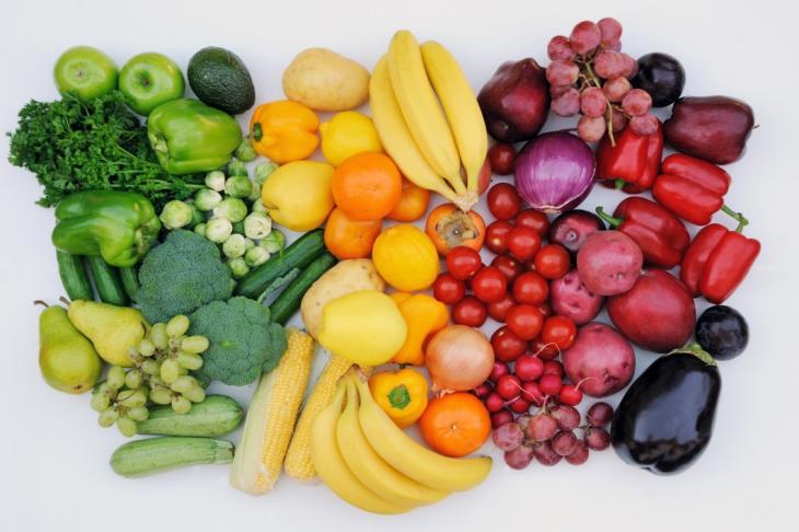 Фрукты, свежие ягоды, овощи