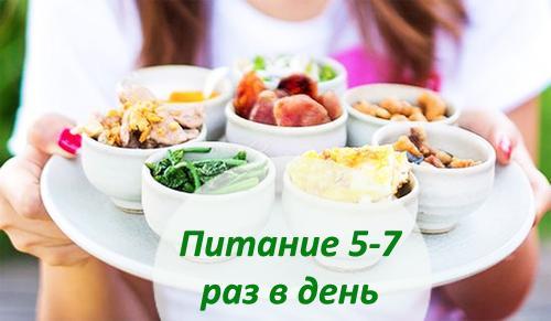 есть пищу нужно часто (5-6 раз в день), но маленькими порциями